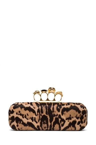 Leopard Knuckle Box Clutch