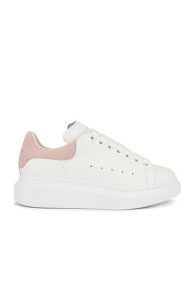 Alexander McQueen Leather Platform Sneakers in White