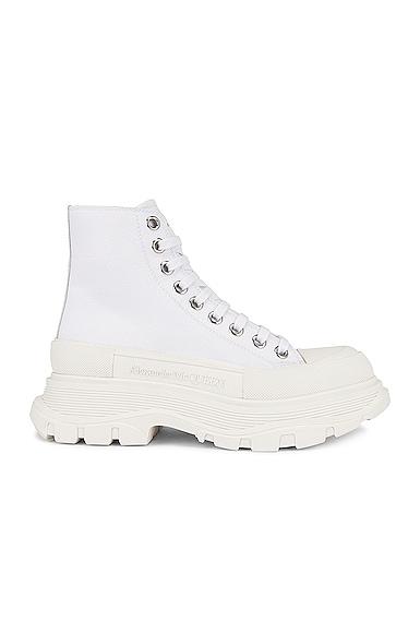 Alexander McQueen Tread Slick Boots in White