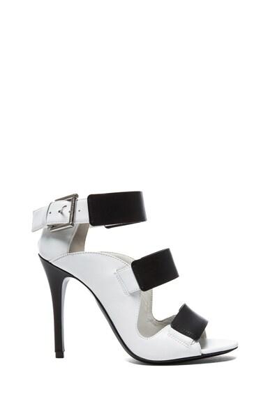 Tri-Buckle Calfskin Leather Sandals