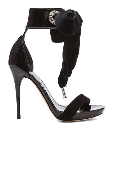 Diamante Eyelet Leather Sandals