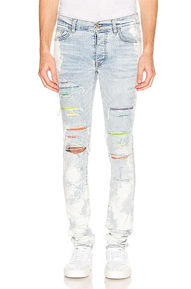 Bleached Crystal Gradient Jean