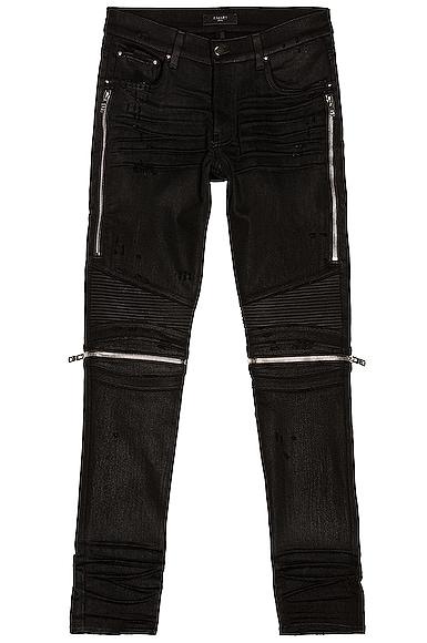 Amiri MX2 Waxed Jean in Black