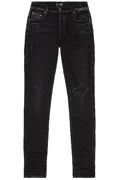 Amiri Playboy Laser Jean in Black