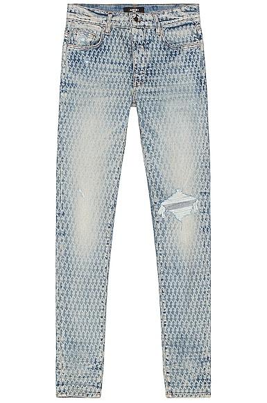 Amiri Playboy Laser Jean in Blue