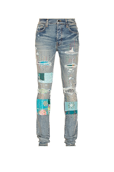 Amiri Quilted Artpatch Jean in Blue
