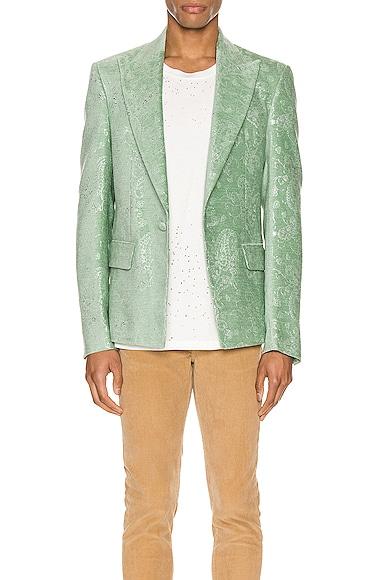 Paisley Velvet Glitter Blazer