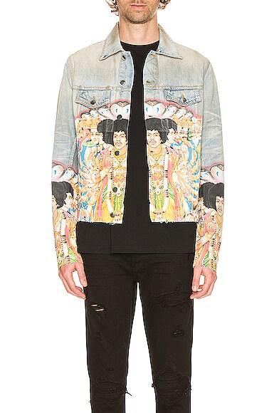 Jimi Hendrix Printed Trucker Jacket