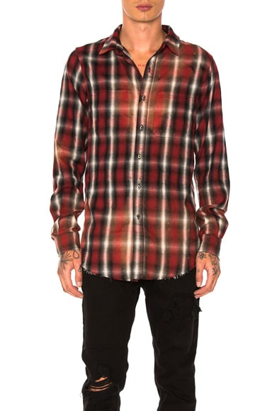 Spray Plaid Shirt