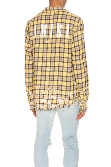 Splatter Plaid Shirt