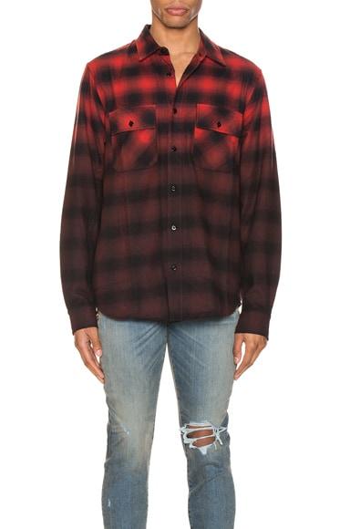 Dip Dye Flannel Shirt