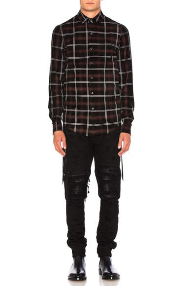 Suede Plaid Shirt