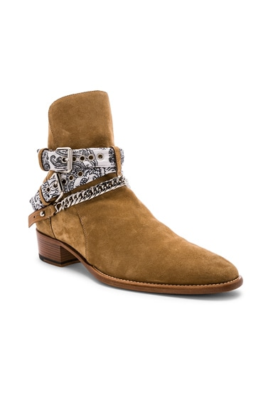 White Bandana Buckle Boot