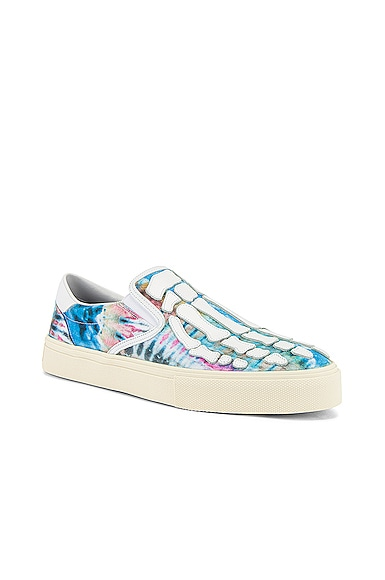 Tie Dye Skel Toe Slip On