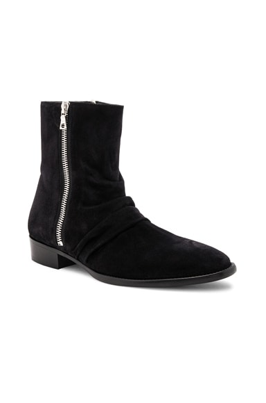 Suede Skinny Stack Boots
