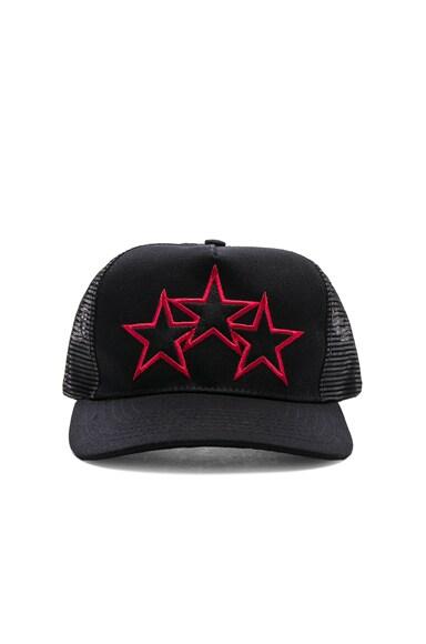 Leather Stitch Star Trucker Hat