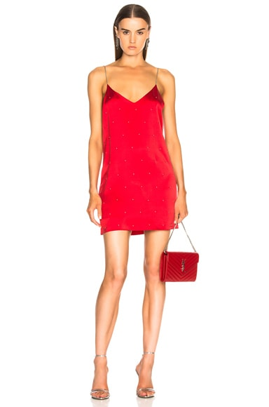 Silk Studded Slip Dress