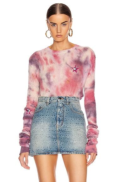 Tie Dye Stars Sweater