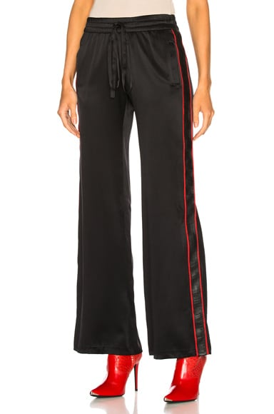 Silk Leather Track Pant