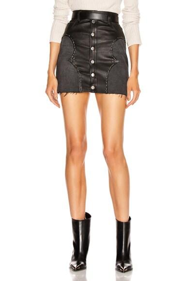 Western Mix Mini Skirt