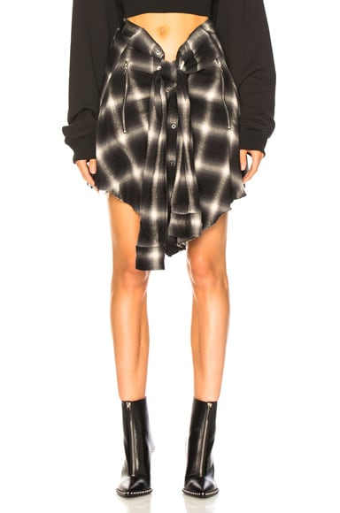 Plaid Waist Shirt