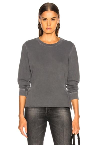 Girlfriend Sweatshirt With Shirring