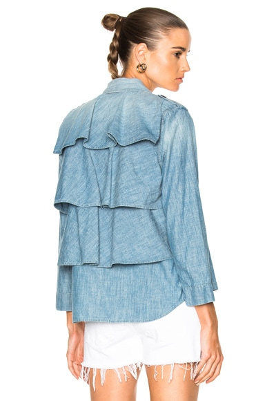 Ruffle Army Jacket