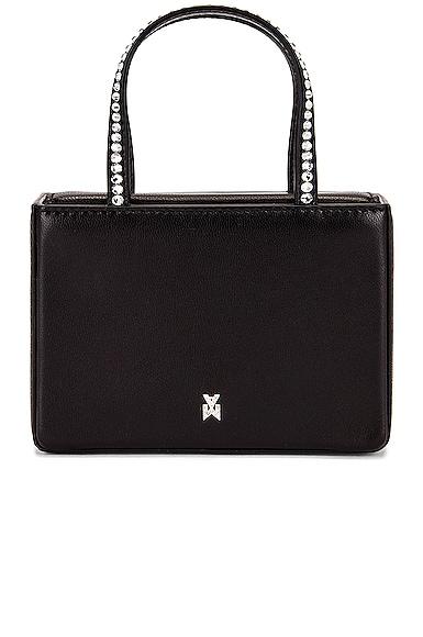 AMINA MUADDI Super Gilda Crystal Nappa Bag in Black