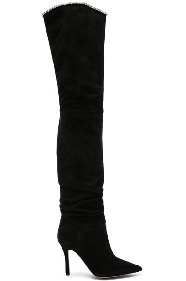Suede Barbara Thigh High Boots