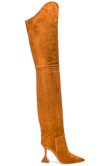 Iman Thigh High Suede Boot