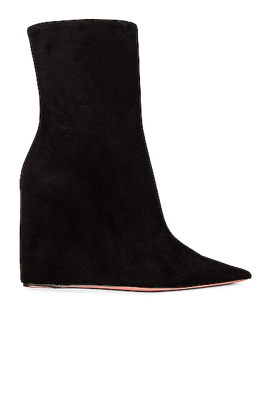Amina Muaddi Boots PERNILLE WEDGE SUEDE BOOTIE
