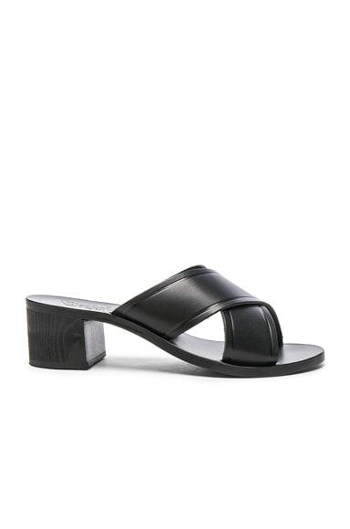 Leather Thais Block Sandals