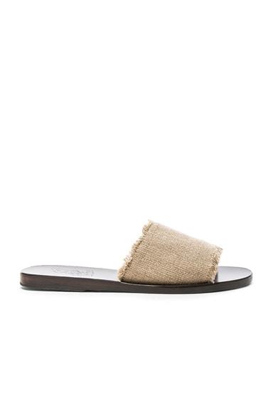 Linen Taygete Sandals