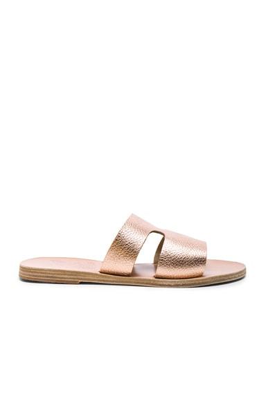 Metallic Leather Apteros Sandals