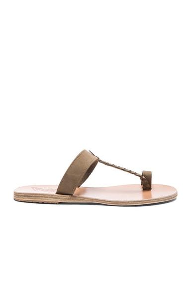 Melpomeni Suede Sandals