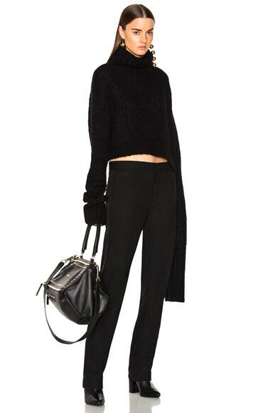 Asymmetric Hem Turtleneck Sweater