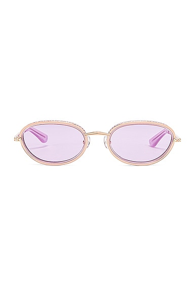 Crystal Oval Sunglasses