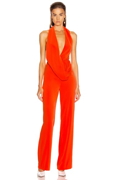 Draped Cowl Jumpsuit