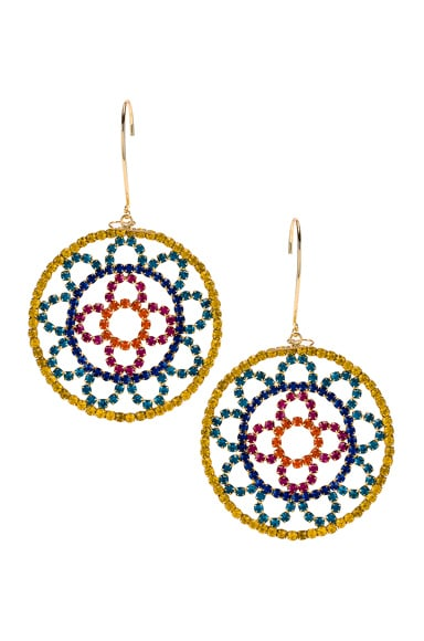 Crystal Cupchain Crochet Earrings