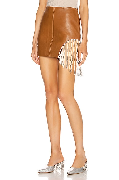 Crystal Fringe Mini Skirt