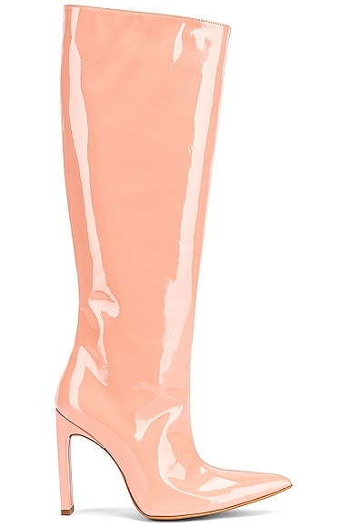 Patent Knee High Boot