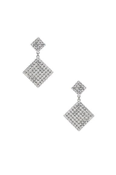Double Diamond Crystal Earrings