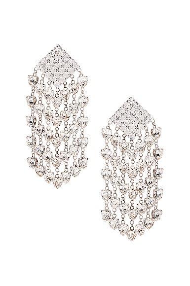 Heart Cascade Clip Earrings