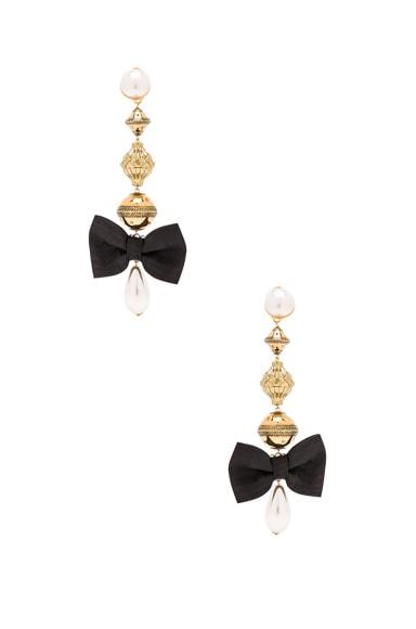 Pearl & Bow Earrings
