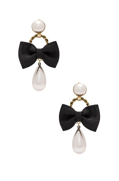 Bow & Pearl Earrings