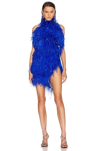 Ostrich Feather Mini Dress