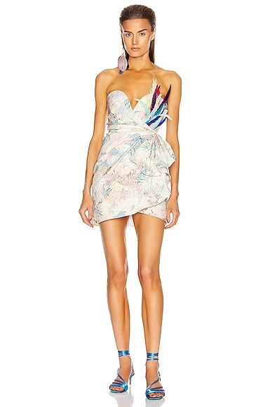 Floral Strapless Mini Dress