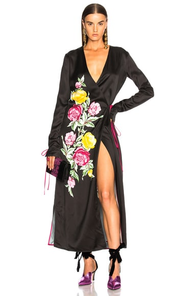 Grace 3 Robe Dress in Black Floral
