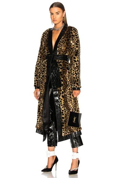 Vivian Faux Fur Trench Coat
