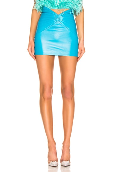 Butterfly Leather Mini Skirt